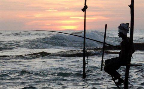 """Stilt Fisherman at Sunset""  -  Sri-Lanka"